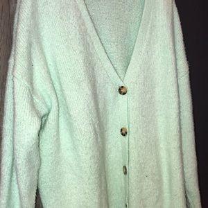 Urban outfitters aqua/turquoise cardigan